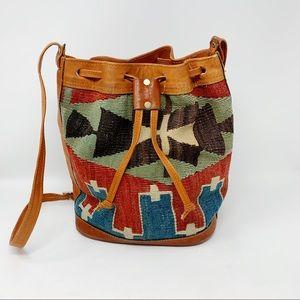 VTG Handwoven Turkish Kilim Bucket Bag